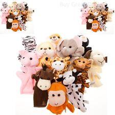 Animal Hand Puppets Child Kids Velour Educational Toy Preschool Kindergarten NEW