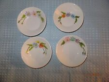 Syracuse USA Syralite Set of Four Bowls, Floral Daisy Designs