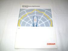"Osram Retro Prospekt ""Halogen-Niedervoltglühlampen Foto Optik"""