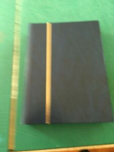 PRINZ 4032 BLUE A4 60 SIDES STAMP STOCK BOOK white pages  good condition