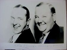 RARE STILL LAUREL AND HARDY SIGNED