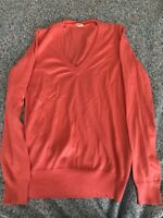 J Crew Women's Sweater XS 100% Cotton Coral