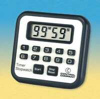 TRACEABLE 7010 Timer/Stopwatch,Digital,3/8 In. LCD