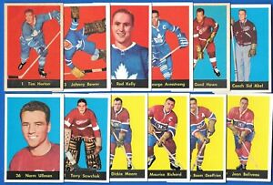 1960-61 PARKHURST 60-61 PARKIES NHL HOCKEY CARD 1-61 SEE LIST