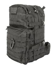BLACK Medium Assault Pack 40 Litre - Daysack MOLLE Security Army Patrol Pack