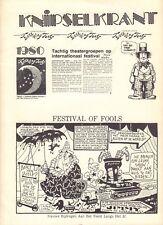 FESTIVAL OF FOOLS (THEATRE DES NATIONS) KNIPSELKRANT 1980