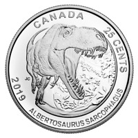 🇨🇦 DINOSAURS Canada 25 Cents NEW Coin, Albertosaurus, Special Quarter UNC 2019