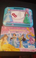 Disney Princess Learn to Write Series- Learning Book with Magnetic Drawing Pad