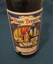 Rarissima e antica bottiglia Vigor Bergia da collezione, vintage, sigillata