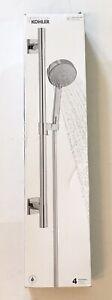 New Kohler 99242-CP Awaken G110 Deluxe Chrome Hand Shower Set, 4 Functions