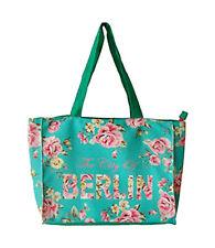 Robin RUTH City Bolso De Compras Berlin Flores NUEVO TURQUESA CIUDAD ROSAS L