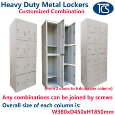 TCS New Metal Lockers - Customise the Combination of 2 Column Lockers OFFICE GYM