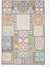VITRAUX GRISAILLES MOYEN AGE RACINET LITHOGRAPHIE Art Decoratif Deco 1870