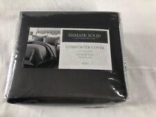 NIP Charter Club Damask Solid Comforter Cover King Set 100% Pima Cotton