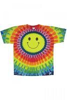 SMILEY FACE TIE DYE T-shirt mens womens SIZE Small Medium & XL  HIPPIE Tye Dye