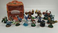 Lot Of 16 Assorted Skylanders Figures And Skylanders Giants Travel/Storage Case