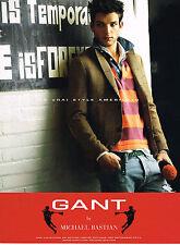 PUBLICITE ADVERTISING 035  2010  GANT  mode by MICHAEL BASTIAN pour homme