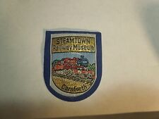 Vintage Steamtown Railway Museum Train Carnforth UK Fabric & Felt Patch- Blue