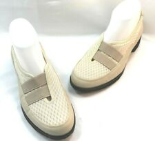 Taryn Rose Tuuli Cream w Mauve Womens Casual COmfort SLip On Shoes Size 8.5M