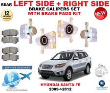 FOR HYUNDAI SANTA FE 2009->2012 REAR LEFT + RIGHT BRAKE CALIPERS WITH PADS SET