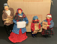 Vintage 1990's Lillian Vernon Christmas Victorian Carolers Set Of Four Rare