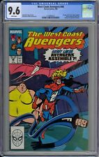West Coast Avengers #46 CGC 9.6 NM+ Wp 1st Great Lakes Avengers App Marvel 1989
