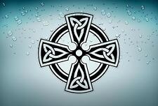 Sticker adesiva adesivi tuning auto celtico trinity triquetra croce knot rA7