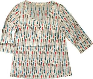 SEASALT Womens Picture Hook Oars Summer Cotton Top Shirt Blouse 8 - 18 HOLIDAY