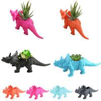 Dinosaur Triceratops Planter Vase Landscape Flower/Plant Pot Gardening Decor