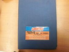 FIAT 124 SPORT 1400 COUPE' / SPIDER BC / BS CATALOGO RICAMBI