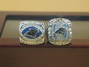 2pcs 2003 2015 Carolina Panthers World Championship Ring -----//
