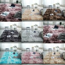 Tie Dyeing Fluffy Rugs Anti-Skid Area Rug Dining Room Carpet Floor Bedroom Mat