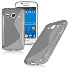 HOUSSE ETUI COQUE SILICONE GEL GRIS  SAMSUNG GALAXY CORE PLUS