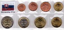 Euro SLOVACCHIA 2009 - 8 PZ FDC in Blister -