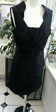 Asos black dress size 10 ~ Free P&P ~ Satin