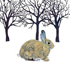 Blanco Marrón Negro conejo Árboles Paquete de 20 servilletas Papel 33cmx33cm
