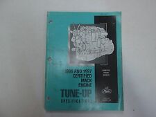 1996 1997 Mack Trucks Certified Mack Engine Tune Up SPECS Manual STAINS WORN OEM