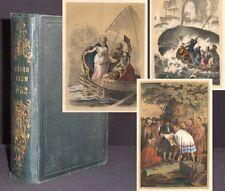 Jugend-Album 1852 kolorierte Lithos SELTENER Jahrgang! Bilderbücher Kinderbücher