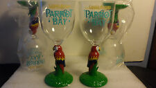 LOT OF 4 NEW CAPTAIN MORGAN PARROT BAY PLASTIC PARTY GLASSES TROPICAL   8""