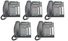 Nortel Avaya Norstar T7208 Charcoal Phones NT8B26AABL QTY: 5