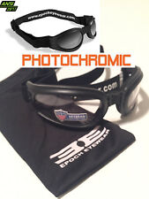 Motorcycle Safety Padded Goggles/Folding Glasses TRANSITION PHOTOCHROMIC LENS