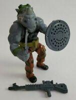 Vintage TMNT Teenage Mutant Ninja Turtles Rocksteady 1988 Playmates Complete