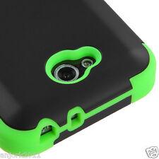 LG OPTIMUS L90 D415 TMOBILE METRO HYBRID T ARMOR CASE SKIN COVER BLACK GREEN