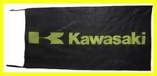 KAWASAKI FLAG BANNER  BLACK klx zx 5 X 2.45 FT 150 X 75 CM