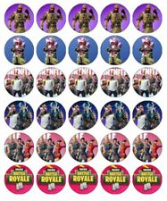 """30 FORTNITE 1.5"""" (35mm) EDIBLE WAFER PAPER CUPCAKE TOPPERS #2"""