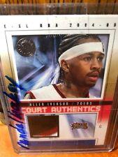 ~~ALLEN IVERSON - 04-05 NBA FLEER SKYBOX E-XL - GAME WORN JERSEY PATCH #1/70 HOF