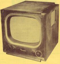 1951 Regal 17T22 Tv Television Service Manual Repair