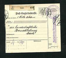 """Österreich   """"Reute"""" auf Paketkarte von 1911   (#863)"""