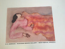 """RC GORMAN SIGNED Poster, """"RECLINING WOMAN"""" 1979  Size is 19 1/2""""  X 24 1/4"""""""