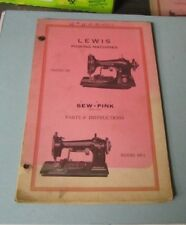 Vintage Lewis Pinking Sewing Machines Parts Catalog and Instruction Manual 102